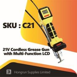 21В в режиме автономной работы ручного инструмента шприц для консистентной смазки с ЖК-многофункциональной рукоятки
