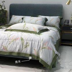 A fábrica Tencel) Colcha de Verão 4 Conjunto de peça Extras Consolador Definir laváveis seda suave bom para dormir