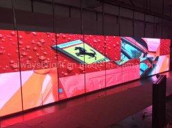 段階のための極度の薄いP3.91によって曲げられるLEDスクリーン屋内適用範囲が広いLEDビデオスクリーン