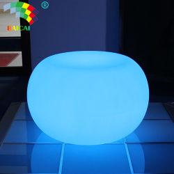 أثاث مقهى LED وطاولة قهوة زجاجية LED للخارجية