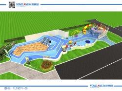 O parque de diversões de estacionamento personalizado Design jardim para relaxar paisagem divertida