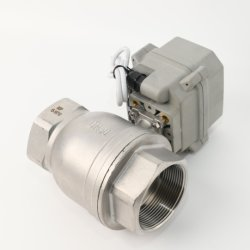 Автоматическое отключение клапана 2 дюйм DN50 из нержавеющей стали приводные шаровые клапаны