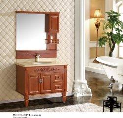 حمام صحي مثبت على أرضية الحمام حوض مزدوج مصمت خشبي مصمت خزفي اغسل حوض الصندوق