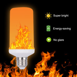 E27 E26 E14 E12 B22 LED 프레임 효력 화재 전구 5W 경경 에뮬레이션 프레임 램프