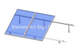 نظام الطاقة الشمسية لقوس التثبيت على السقف المسطح القابل للضبط الألومنيوم في وضع الأربطة