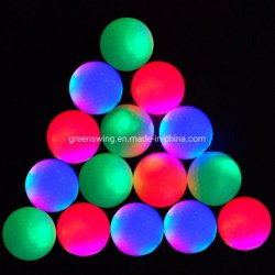 LED Multi-Color Noite Electrónica luminosa do Rastreador de bola de golfe de luz intermitente até as bolas de golf para Noite Golfe