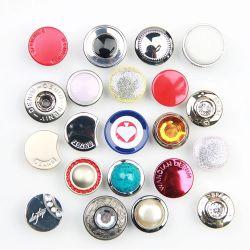 Alliage métallique personnalisé de gros trou petit à coudre les boutons de chemise