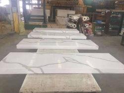 Mattonelle di marmo artificiali del marmo dell'oro del piano d'appoggio del controsoffitto della cucina della lastra della pietra del quarzo Qt401