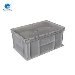 플라스틱 이동하는 패킹을%s 크레이트에 의하여 붙어 있는 뚜껑 콘테이너를 겹쳐 쌓이는 50L