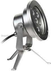 6X3w IP68 강철 LED 수중 스포트라이트 수영풀