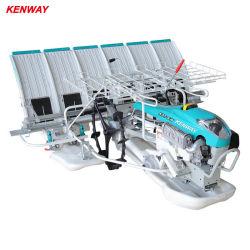 機械YAMAHAエンジンを搭載する歩く手動米のTransplanterを植える6列プランター水田の後ろの2020年のAgirucltural Kubotaの歩行
