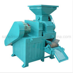 Nieuwe energiebesparende steenkool houtskool BBQ Iron Gypsum Power Ball Persbriketten maken machine Mineraal Poeder Antraciet Poeder Dubbel Roller Kolenbriquette machine