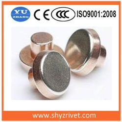 Rivets bilame de Silver Contacts électriques
