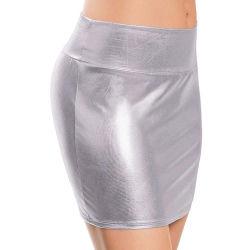 Les femmes sexy Skinny courte jupe en cuir de crayon