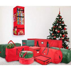 متحمّل [600د] مادّيّة عيد ميلاد المسيح عطلة [ورب ببر] هبة لفاف تخزين منظّم حقيبة