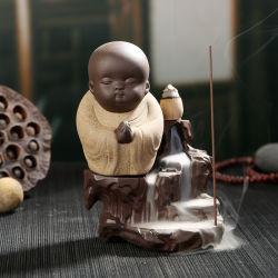 세라믹 향로 역류 탑 콘 지팡이 홀더 세라믹 사기그릇 Buddha 수도사