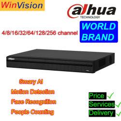 Оптовая торговля 4 8 16 32 64 128 Mobile DVR 4CH 8 CH 16CH 32CH 64CH перед лицом проблем с распознаванием 4K Dahua CCTV Poe сетевой видеорегистратор