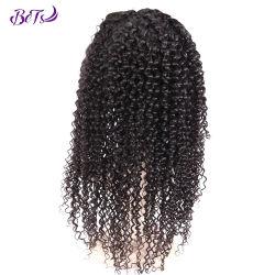 India ondulado largo encaje frontal grueso rizado peluca cabello humano.