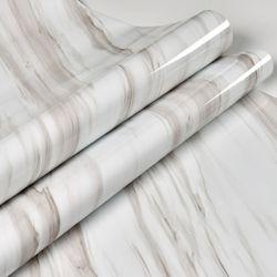 Design moderno e de venda quente Self-Adhesive brilhante de alta marmoreado vinil de PVC de parede Contato em mármore branco para contador de cozinha