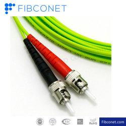 موصل FTTH St UPC-FC UPC متعدد الأوضاع G657A1 G657A2 G652D SM قناطر توصيل الألياف البصرية LSZH Duplex Fiber Patchcord