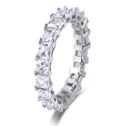 925 de echte Zilveren multi-Stenen Juwelen van het Huwelijk van de Manier van de Ring van de Luxe van het Inlegsel