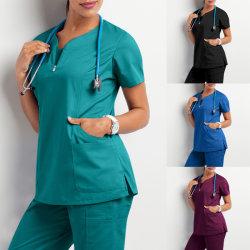 Krankenhauspersonal scheuert Spitzenkrankenpflege konstant für männlich-weibliches zahnmedizinisches Klinik-Zubehör-Krankenschwester-Frauen-Uniform-Hemd-medizinische Uniformen