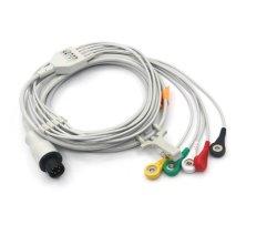 의학 부속품: 참을성 있는 모니터는 ECG 케이블을 5 지도한다