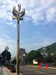 Lustre en forme de style Magnolia-Flower grand poteau d'acier Golden Q235 la lumière des lampes pour carrés Villas Gouvernement bloque