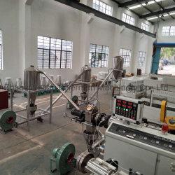 2021 새로운 디자인 PVC 소프트 파이프/프로파일 알갱이/펠렛 이중 나사 압출 생산 라인 100 - 600kg 용량 Siemens 모터 냉각 장치 양호