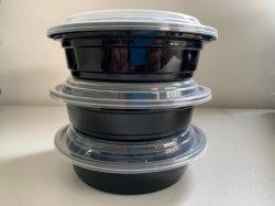 Cuadro de Storge Contenedor de Comida de plástico de uso de la familia de reciclaje de vajilla