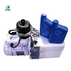Rentable en 2 étapes électrique rotative à ailettes de la pompe à vide avec vanne réglable Two-Shift ballast à gaz