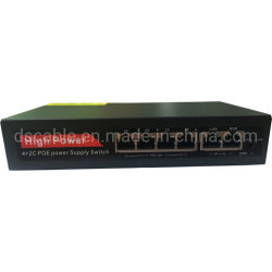 250m de 4 puertos Ethernet Red Smart Switch Poe IEEE	802.3af/a 52V de alimentación incorporada