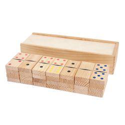 Juego de mesa clásicos de impresión en color madera Domino