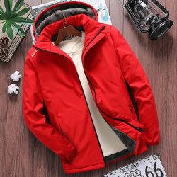 メンズ New Plus Velvet Thick All-Match Warm Jacket
