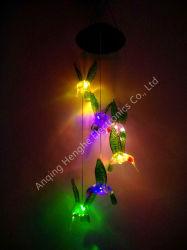 Panel de la Energía Solar LED colibrí del sensor de par el viento impermeable al aire libre de inundaciones de campanilla de Maceta de árbol de la calle de techo jardín césped decoración iluminación crecer
