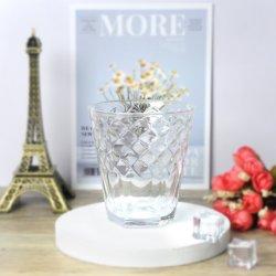 قطرة مطر تصميم يشكّل زخرفة زجاجيّة برميل دوّار فنجان آنية زجاجيّة
