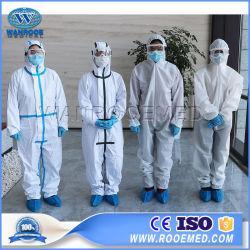 Ea 17 Coronavirus 폐염 집중적인 병원 의학 안전 처분할 수 있는 외과 방어적인 격리 의류 장비