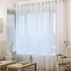 Tul blanco puro de la ventana de Organza de tela de cortina