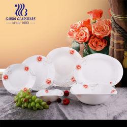 21 PCS de Ópalo blanco cristalería cena forma irregular con la etiqueta Imprimir Bys021001-T22