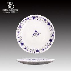 7.5Inch Fantasia elegante decoração personalizada usando microondas Opal jantar de vidro de exposição por23lhp75-T17