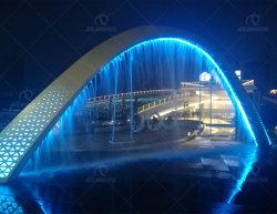 L'extérieur de l'eau de la musique de danse fontaine cascade rideau d'eau de la fontaine de pivotement