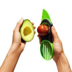 Multifunctionele Groente van het Fruit van het Hulpmiddel van het Gadget van de Keuken 3 in 1 Snijmachine van de Avocado van het Mes van de Snijder van het Vlekkenmiddel van de Kern