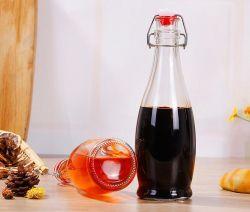 Frasco de vidro da luva de aço inoxidável para frascos de vidro molho óleo vinagre de vinho de Cozinha Equipada