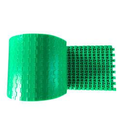 Линия упаковки пластиковой гладкая поверхность тосты изогнутые белые Food Grade боковой стенки полет транспортер модульный ремень