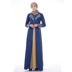 جديد [أبا] نمو بالغ يرتدي كم طويلة ثوب بسيط [مإكسي] [أبس] لأنّ نساء مسلم دبي