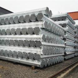 炭素鋼製厚肉 48.3/48.6mm 亜鉛めっきスチールチューブ BS1387 Q235 ホットデ ipped 亜鉛めっきラウンドスチールパイプ