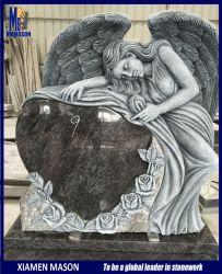 Старинные скульптуры Ангела Tombstone в форме сердца