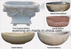 La clásica de granito de piedra de mármol travertino//// arenisca basalto/Jade/Onyx Jacuzzi bañera