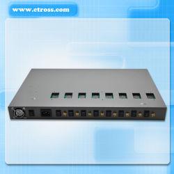 PABX System&VoIPのゲートウェイ(Etross-8888)への8機のポート8 SIMのカードGSMの固定無線ターミナル互換性がある