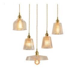 Vintage Poignée de commande de lampe en verre industriel de la suspension de la lumière avec douille de lampe en laiton, pour la salle de cuisine, bar, Café Club, salle à garnir